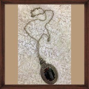 Vintage Changing Rhinestone Medallion Necklace